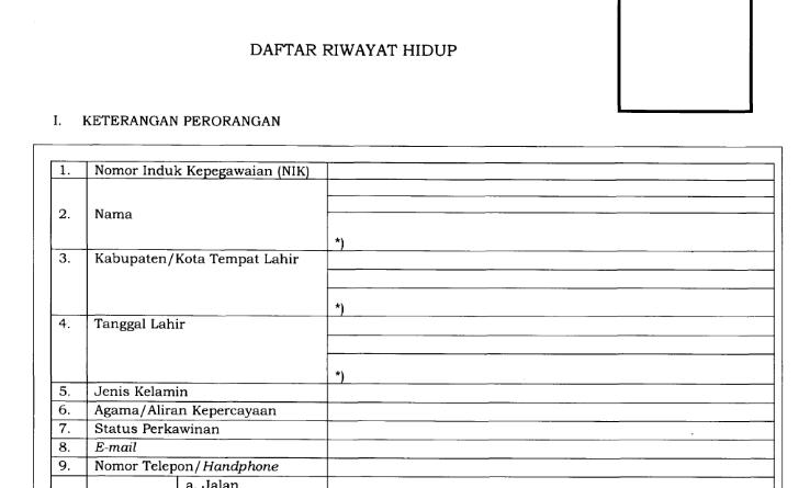 FORMAT DOKUMEN PEMBERKASAN CPNS 2019 (FORMASI 2018)