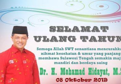 Sekretaris Provinsi Dr. H. Mohamad Hidayat, M.Si Berulangtahun Hari Ini