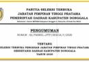 Seleksi Terbuka JPT (Sekretaris Daerah Kab. Donggala) 2020