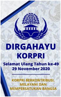 Peringatan HUT KORPRI Ke-49 Tahun 2020 di BKD Prov. Sulteng
