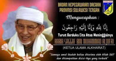 Turut Berduka Cita Atas Berpulangnya Habib Saggaf Bin Muhammad Aljufri