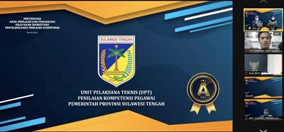 "UPT Penilaian Kompetensi Pegawai BKD Provinsi Sulawesi Tengah Raih Akreditasi ""A"""